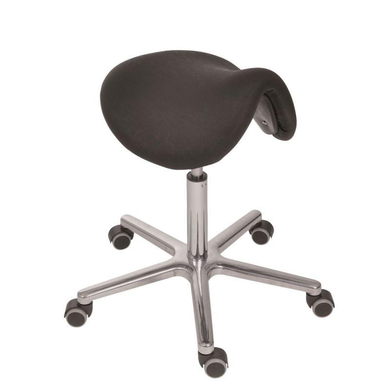 Antistatischer ESD Sattelsitz-Hocker, bewegtes Sitzen, mit Rollen, von Lotz