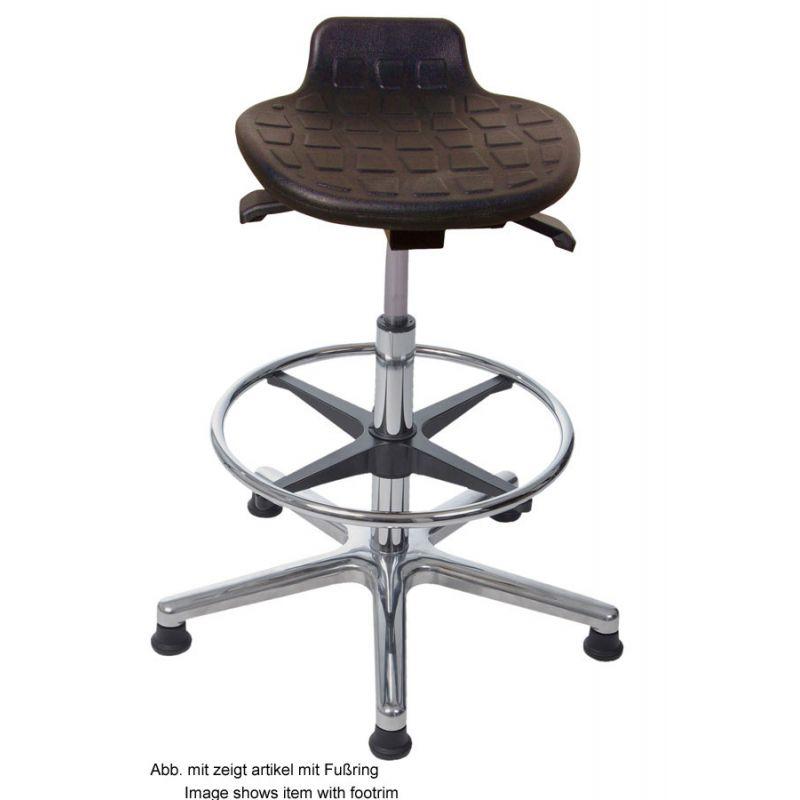 hochwertige stehhilfe mit pu sitz schwarz sitzh he 50 5 cm 76. Black Bedroom Furniture Sets. Home Design Ideas