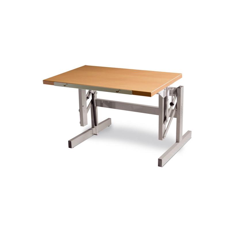 Durchschnittliche Tischhöhe höhenverstellbarer sitz steh tisch ergo s 52 tischhöhe 52