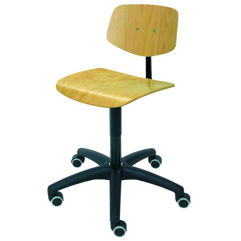 Stuhl Modell 6125 mit Rollen von Lotz 139 90
