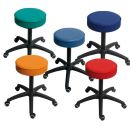Swivel Stool Synthetic Leather Model 3520.1 with Gliders by Lotz