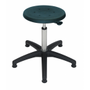 Stainless swivel stool Model 3931 with Gliders, Seat...