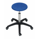 Stainless swivel stool Model 3931 with Castors, Seat...