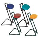 Sit Stand Stool THE STEADY with Synthetic Leather Seat,...