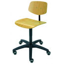 Chair Modell 6125 with Wheels by Lotz